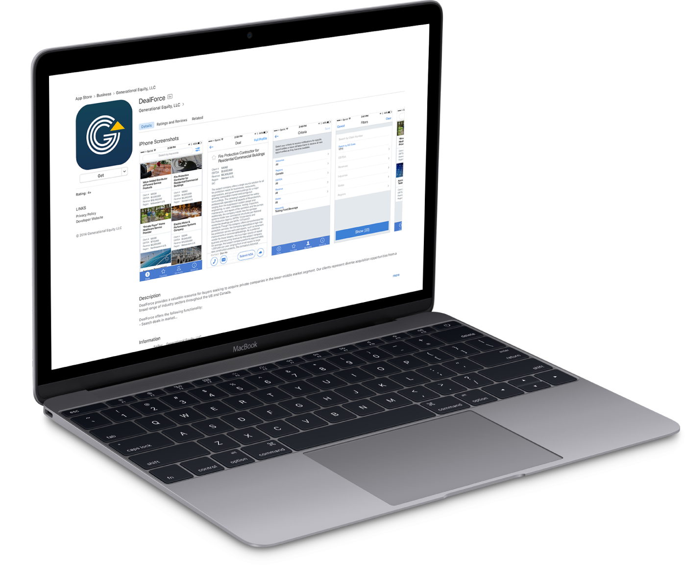 DealForce laptop - app