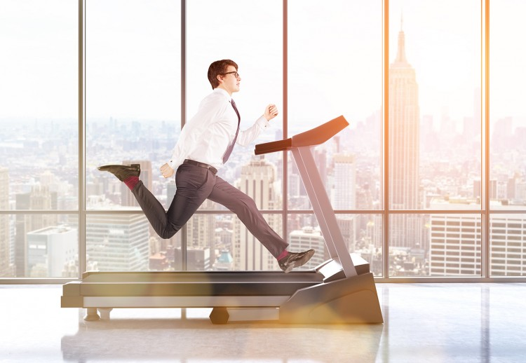 Business Owner on Treadmill