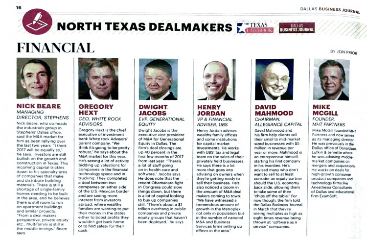 Generational Equity - Dallas Business Journal